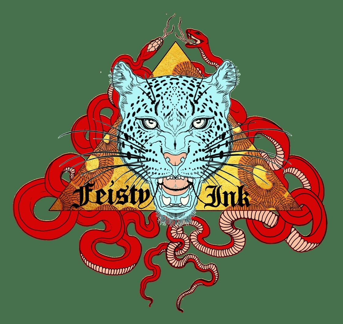 Image of Feisty Ink logo Unisex Crewneck Sweatshirt