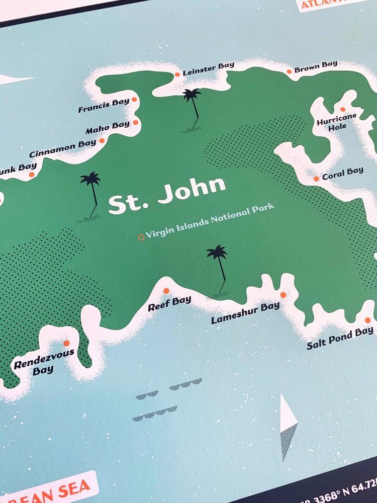 Image of St. John Map