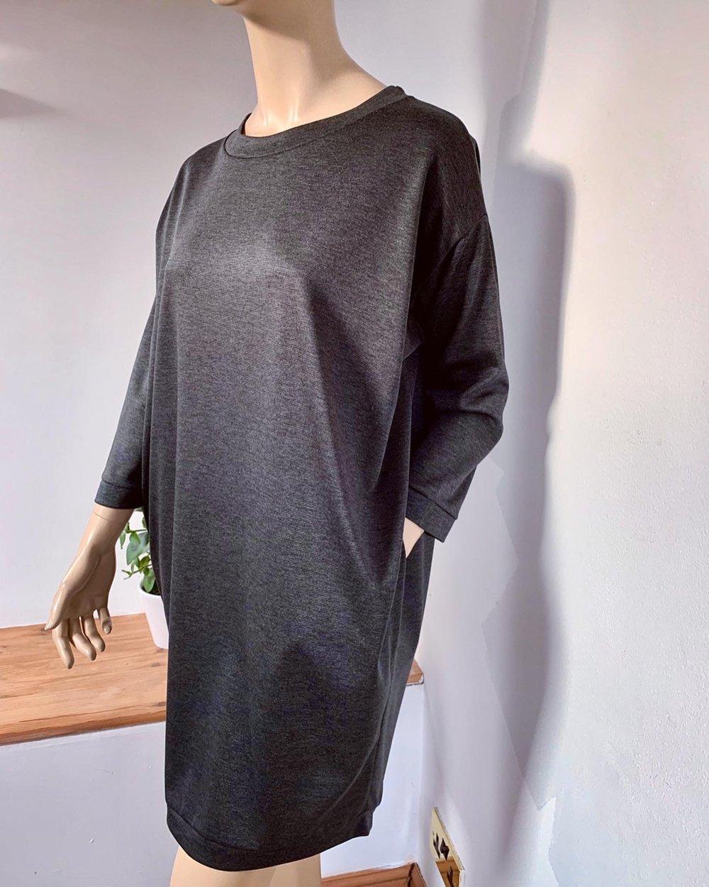 Milano jumper dress with pockets & sleeves - thicker fabrics