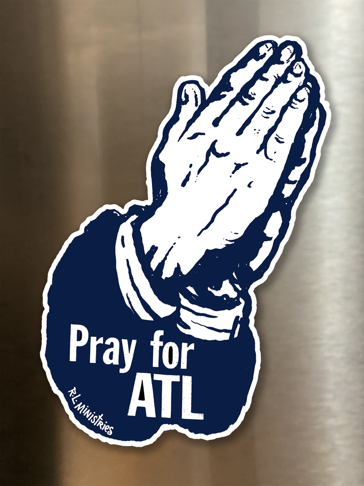 Image of Pray for ATL Magnetic Art
