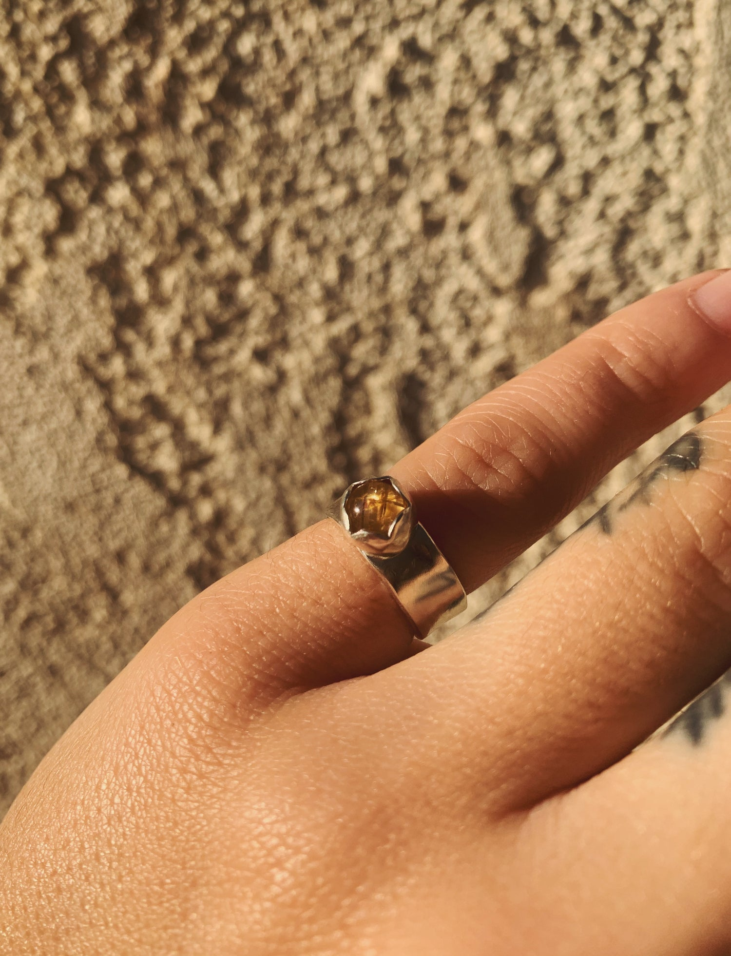 Image of Cats Eye Rutilated Quartz Pinky Ring