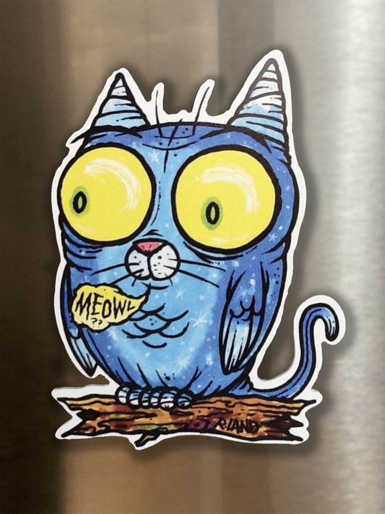 Image of Meowl Magnetic Art