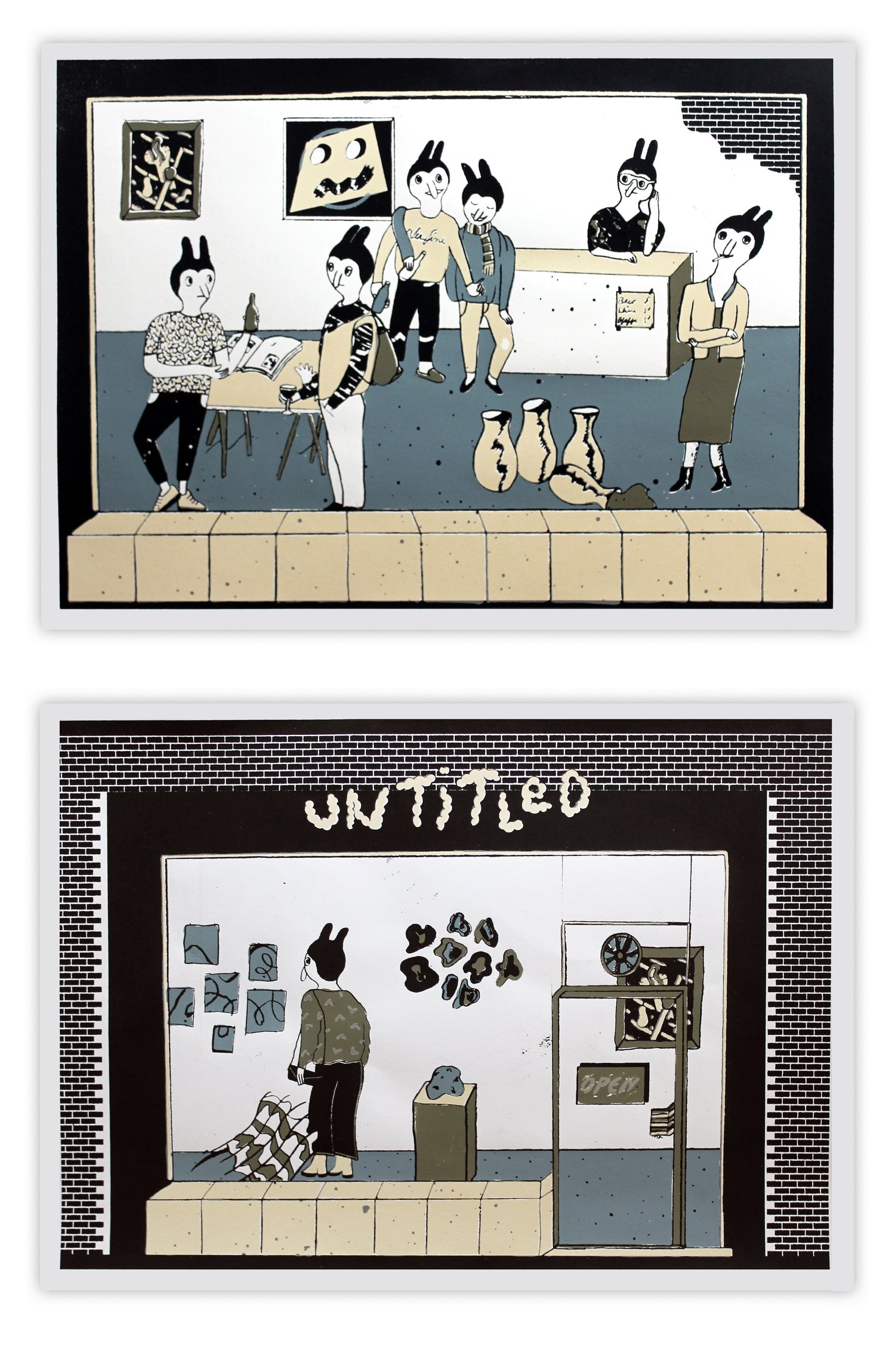 Image of 'In the Gallery' Silkscreen 2-Print Set