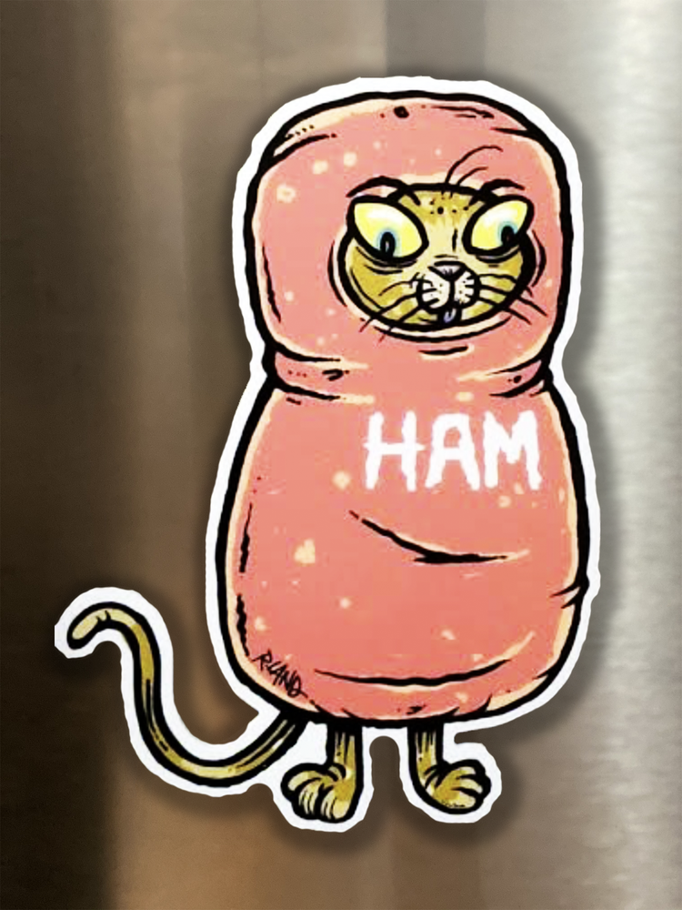 "Image of ""Scout"" Ham Cat Magnetic Art"