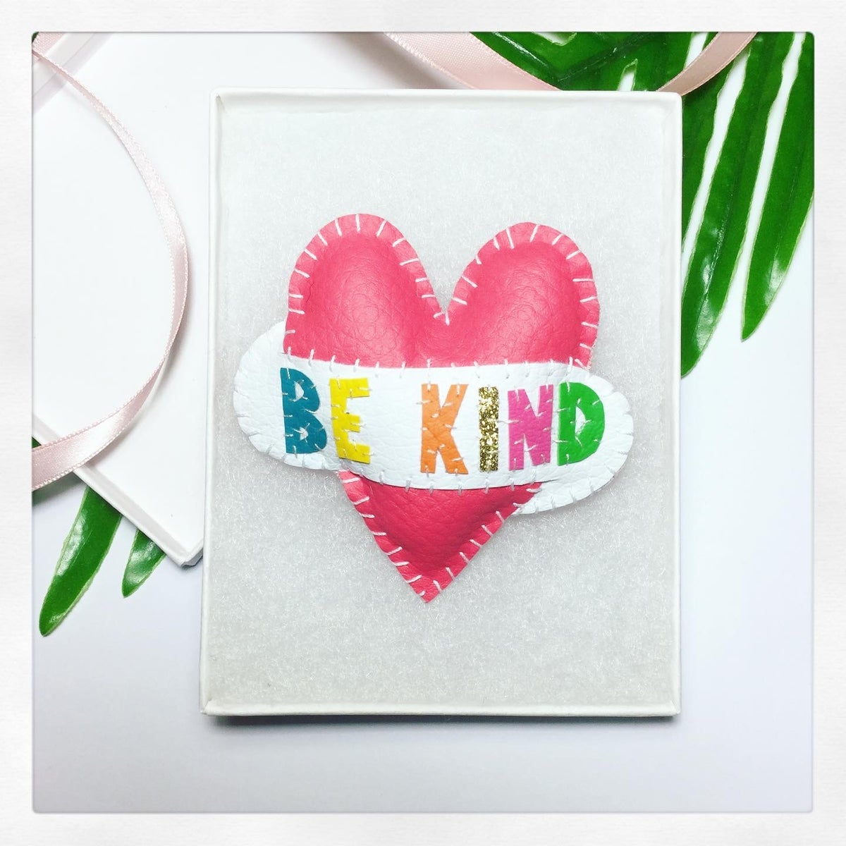Image of BE KIND Heart Brooch