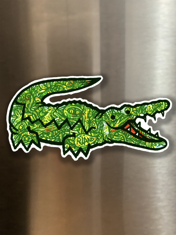 Image of Lacoste Landfill Gator Magnetic Art