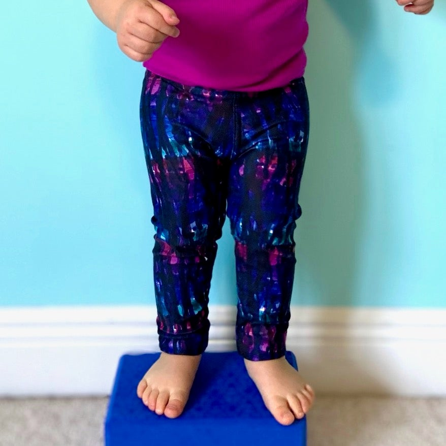 Image of Girl's Watercolor Drips Yoga Pants