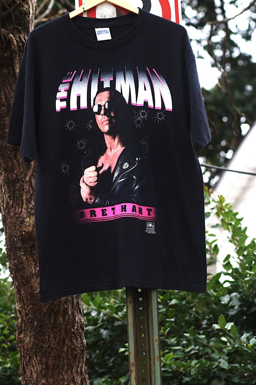 "Image of  Rare 1998 Vintage NWO ""BRET HART - The Hitman"" Wrestling Tee"