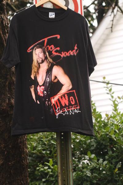 """Image of Rare 1998 Vintage WCW """"Kevin Nash -NWO"""" Wrestling Tee"""