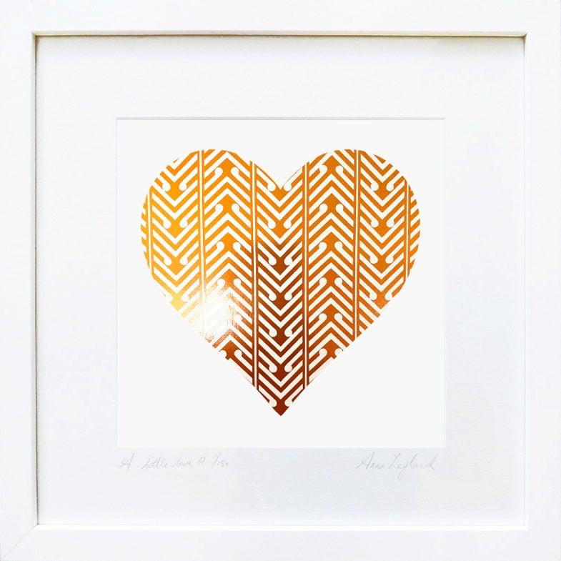 Image of 'A Little Love II' & 'A Little Kiss II' in Rose Gold