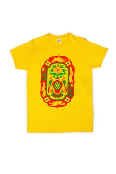 Rabbits T-shirt yellow - proyecto eclipse