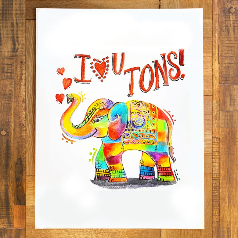 Image of I ♡ U Tons Print
