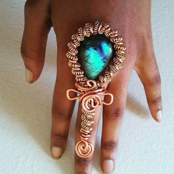 Image of Candy Ankh Ring