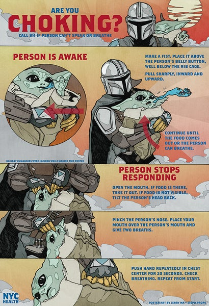 Image of THE MANDALORIAN CHOKING POSTER