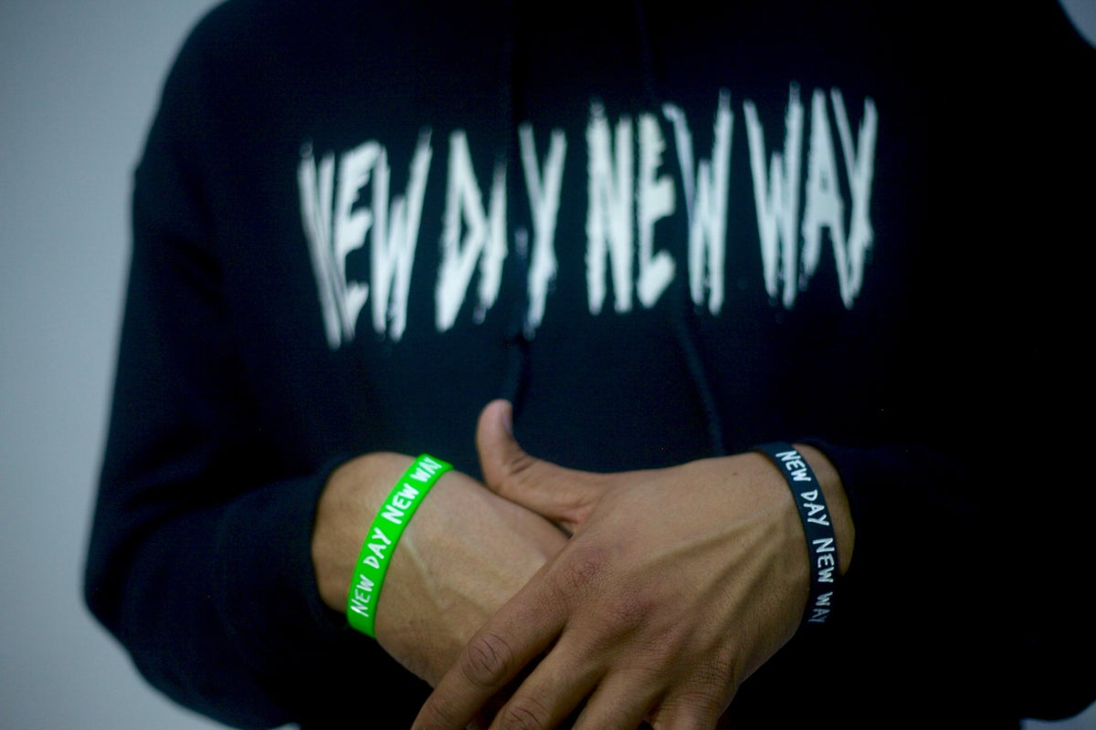 New Day New Way Org logo hoodie