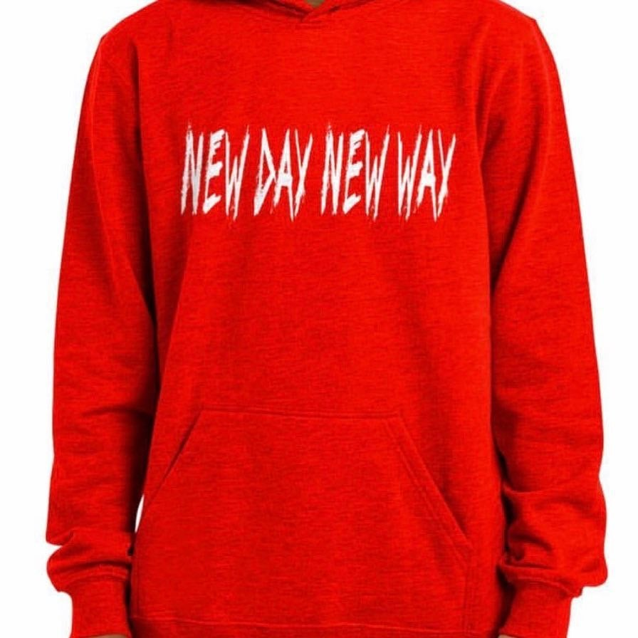 New Day New Way Red Org Logo Hoodie
