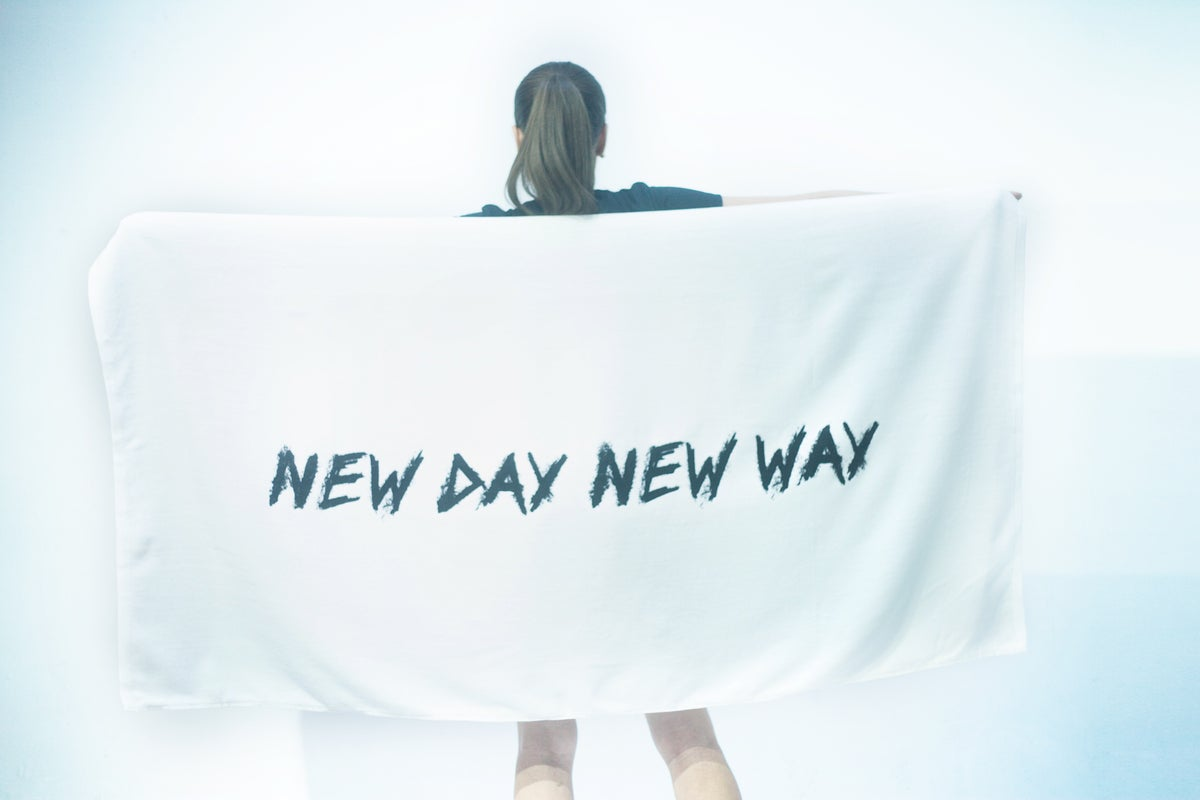 New Day New Way Org Logo Beach Towel
