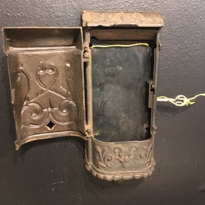 Image of Victorian  Cast Iron Devil Mailbox with Key