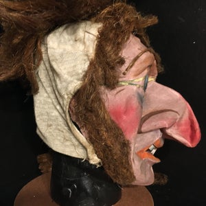 Image of Antique Hand Painted Witch Mask