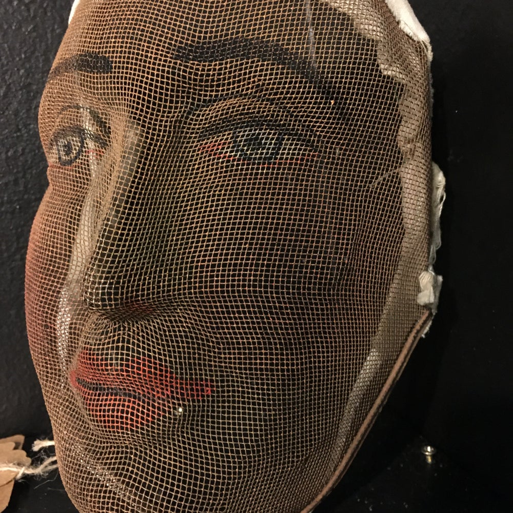 Image of Antique Wire Mesh Odd Fellows Mask