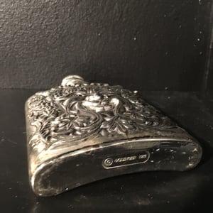 Image of Vintage Silver Plated Devil / Bacchus Flask