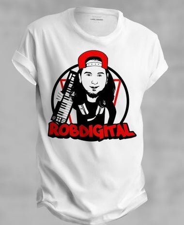Image of Rob Digital/ Studio Warrior Cartoon theme T shirt