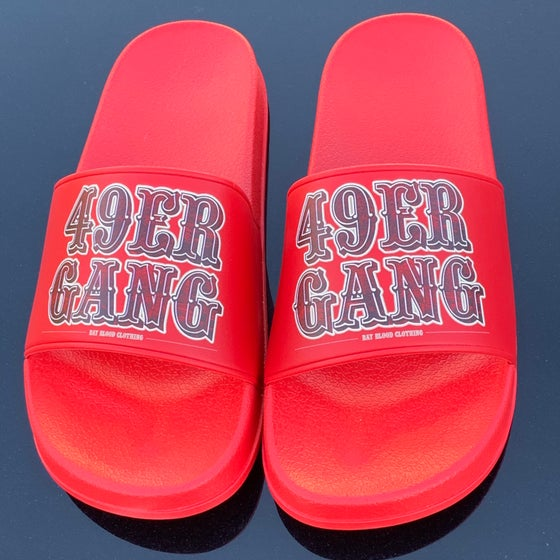 Image of 49ER GANG SLIDES (RED)