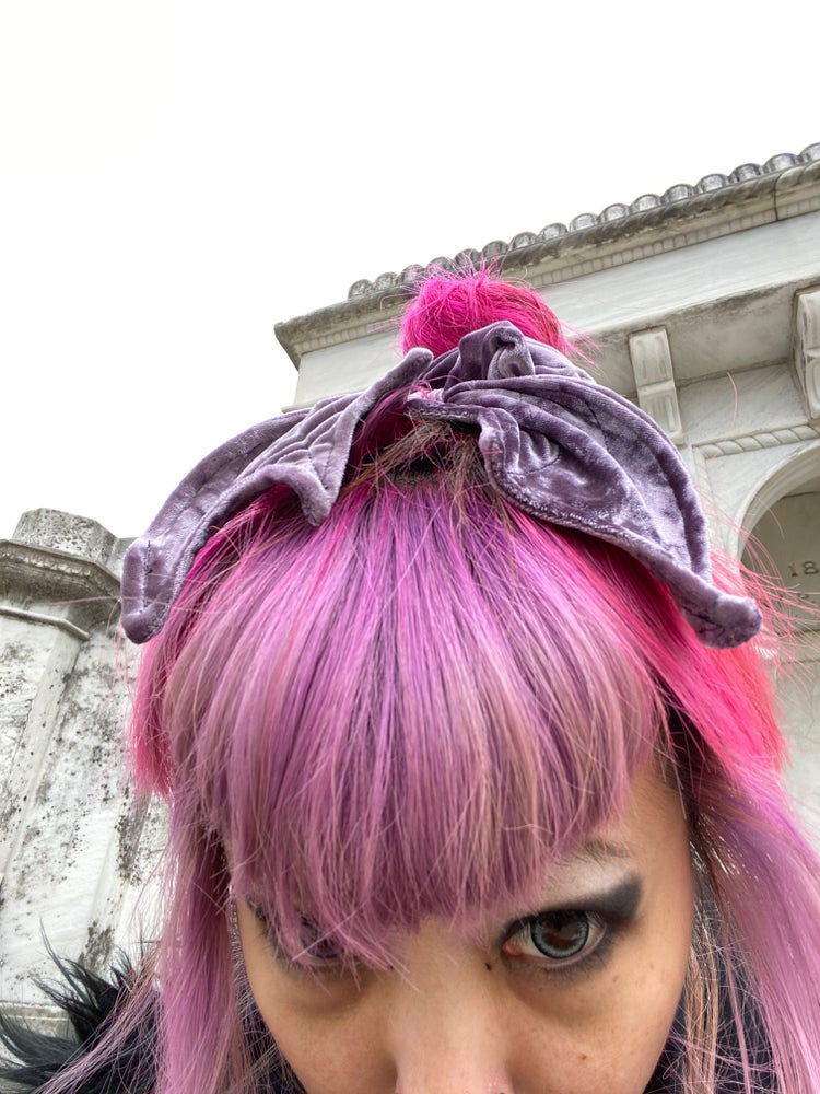 Image of Lavender Bat Wing Scrunchie