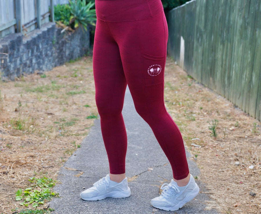 Image of PMA Fitwear Leggings - Maroon