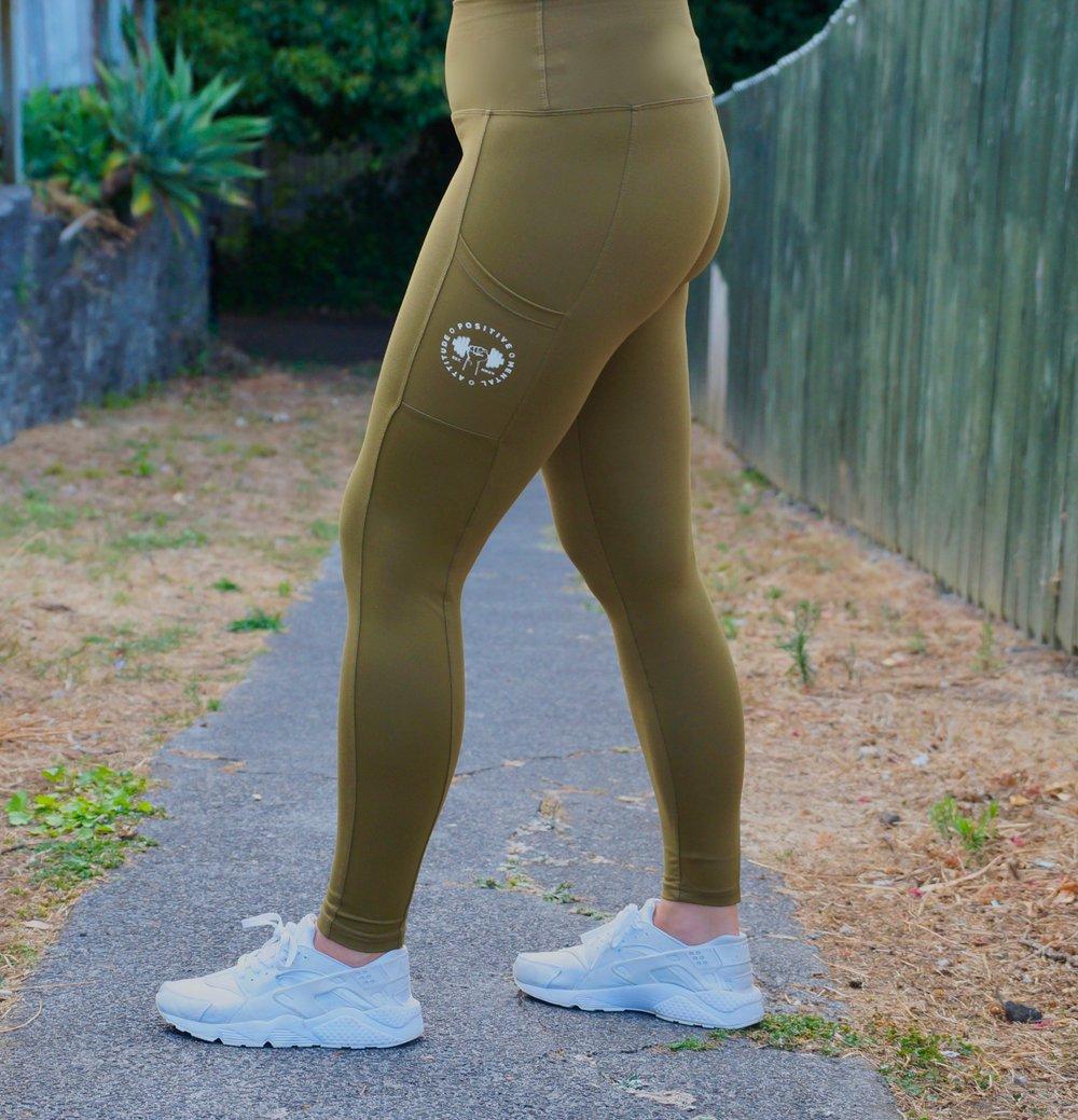 Image of PMA Fitwear Leggings - Khaki