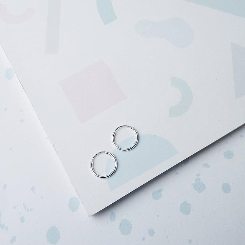 Image of *NEW* Mini Hoop Earrings sterling silver