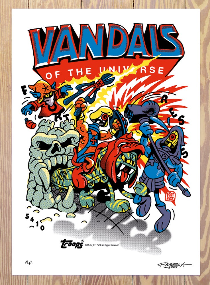 Image of Vandals Of The Universe / A.P. print