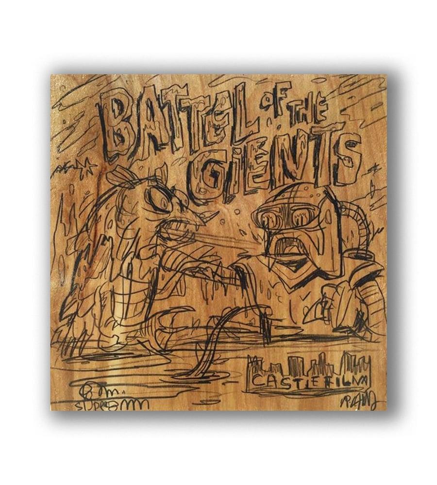 Image of Original Sketch On Raw Plywood!