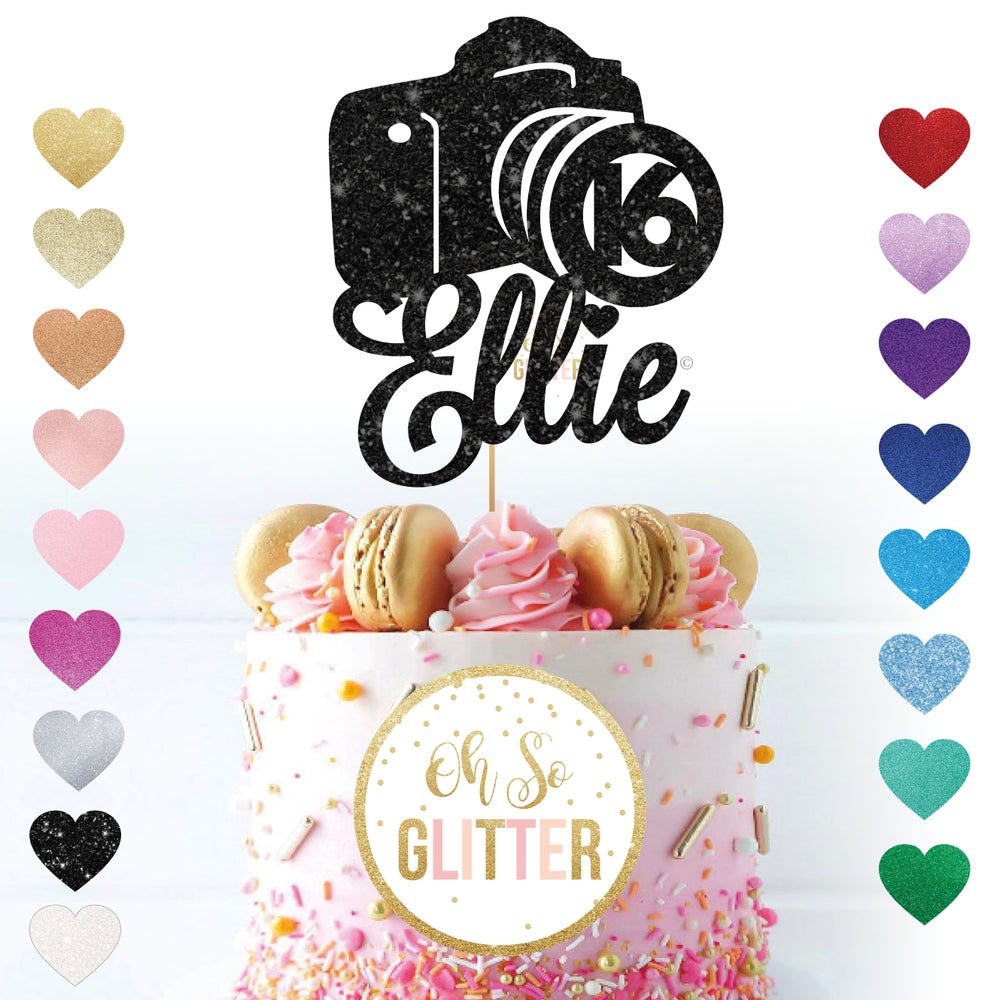 Image of Camera Photography Cake Topper