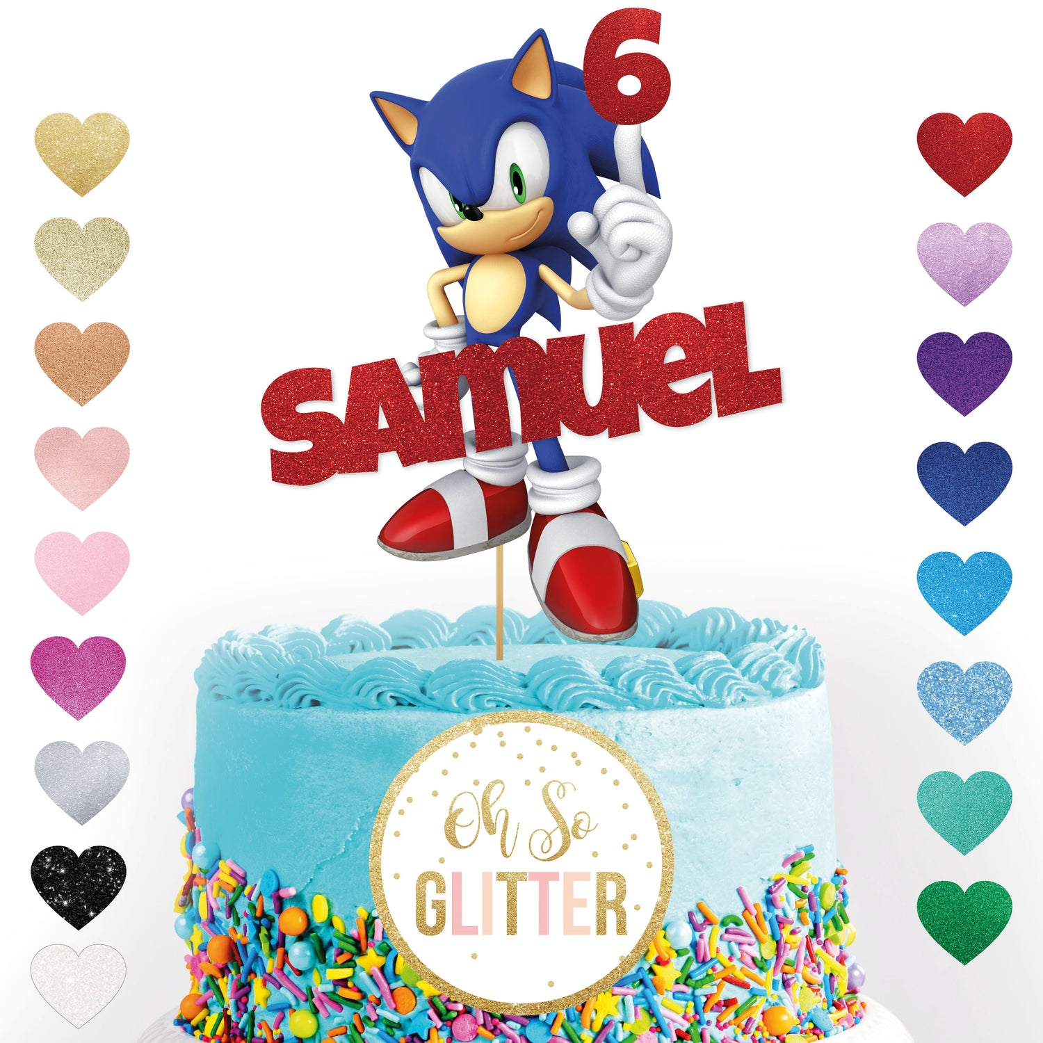 Image of Sonic Cake Topper