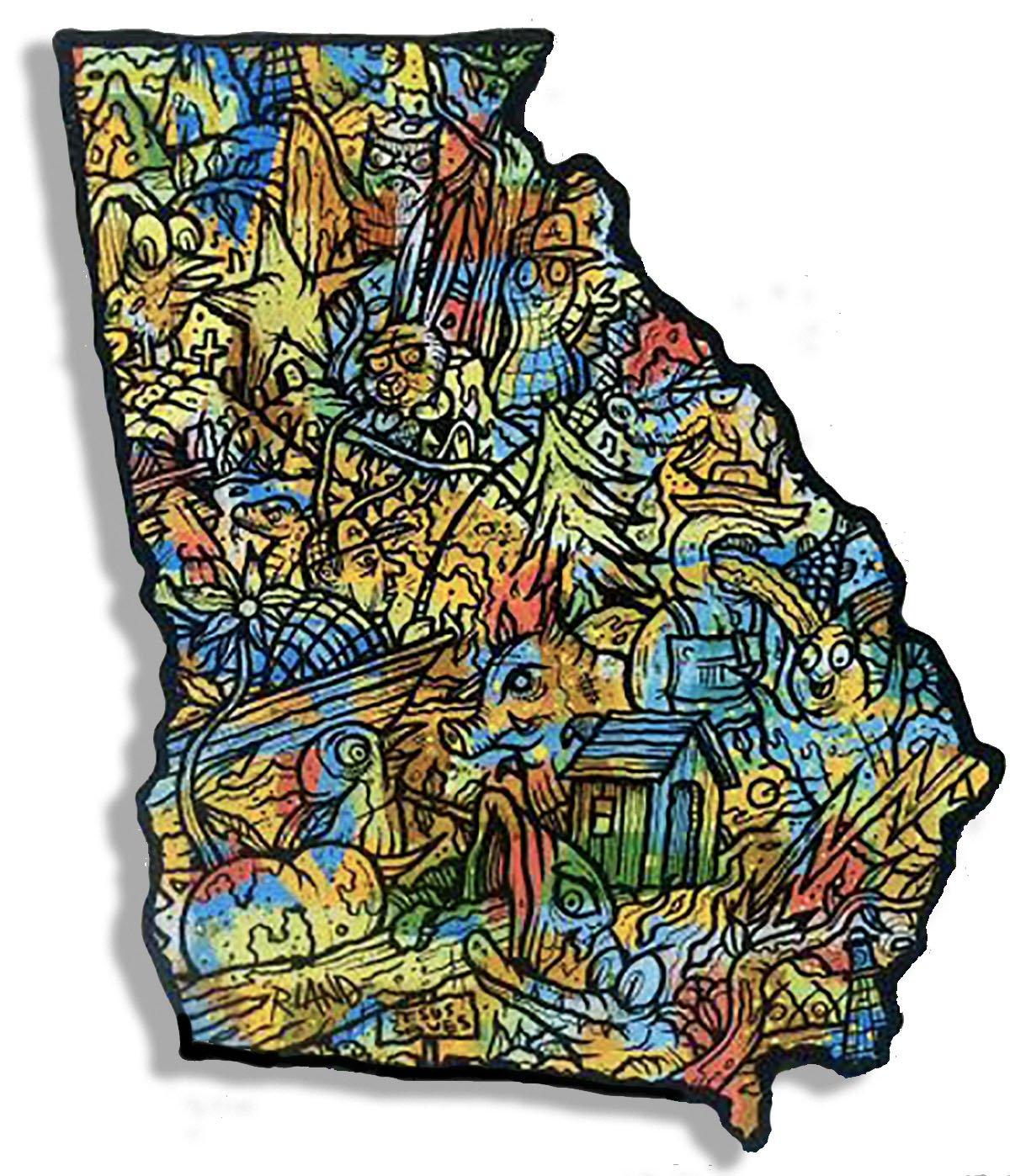 Image of Georgia Land Wall Art - Larger Version