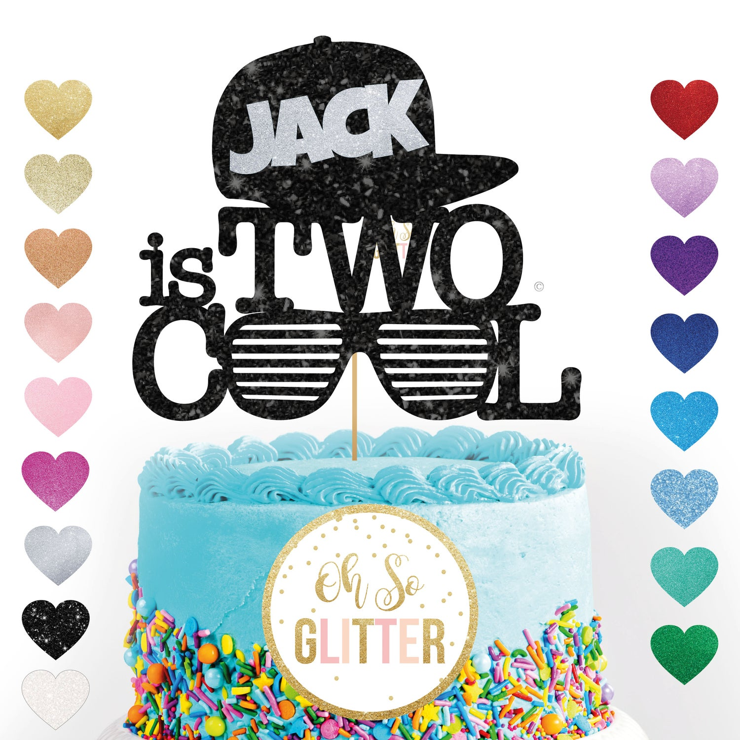 Image of TWO cool Cake Topper