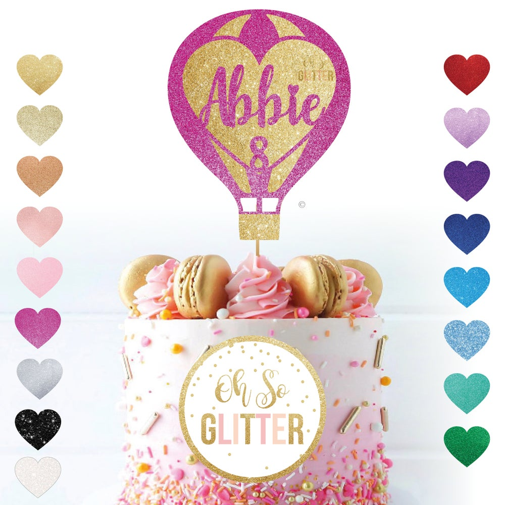 Image of Hot Air Balloon Cake Topper