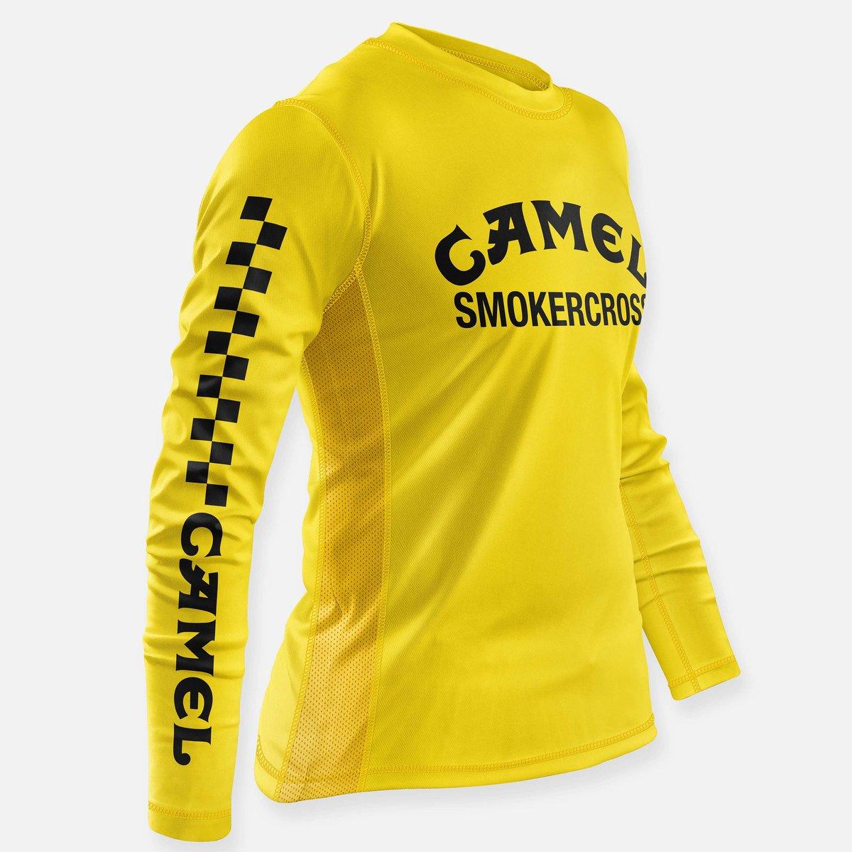 Image of CAMEL SMOKERCROSS JERSEY YELLOW