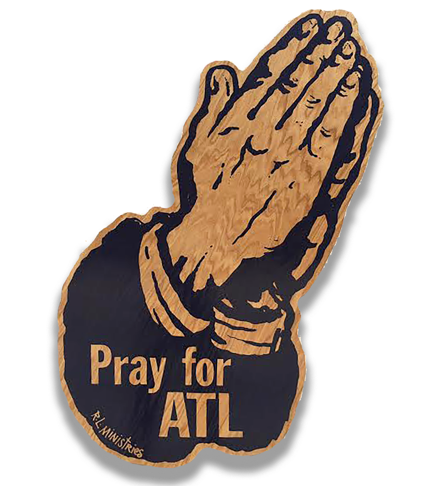 Image of Jumbo Pray for ATL- Wood Finish