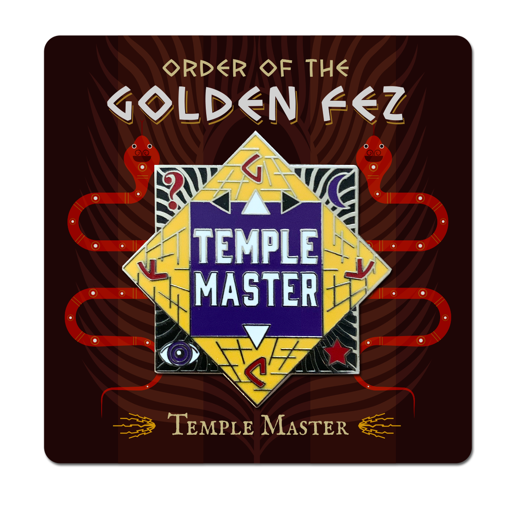 Image of Order of the Golden Fez Temple Master Enameled Pin