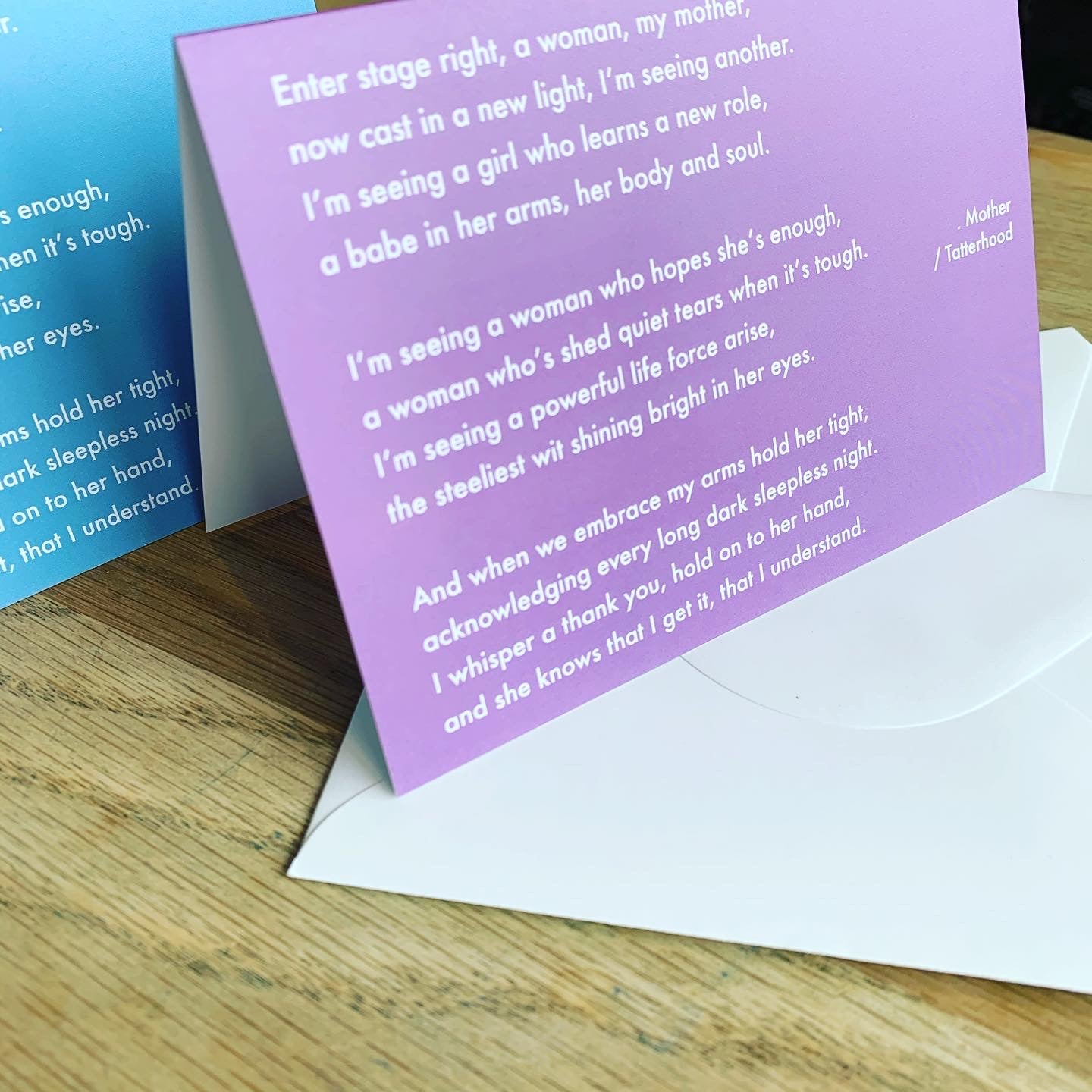 Image of Purple - Mother greetings card
