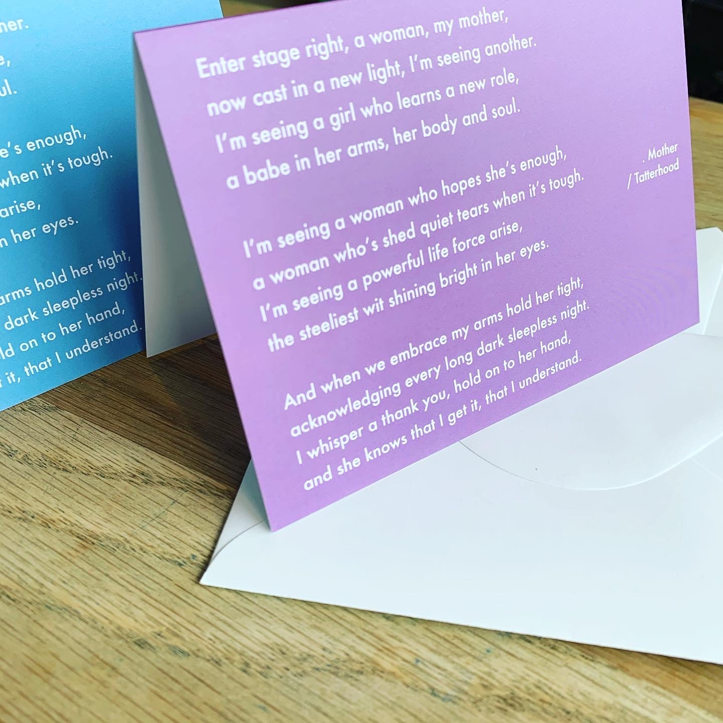 Image of Blue - Mother greetings card
