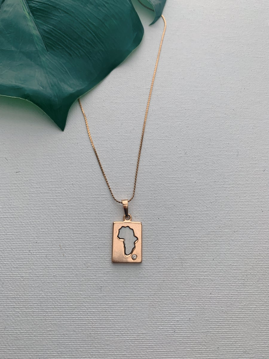 Image of BIRTHDAY • Africa Pendant Necklace
