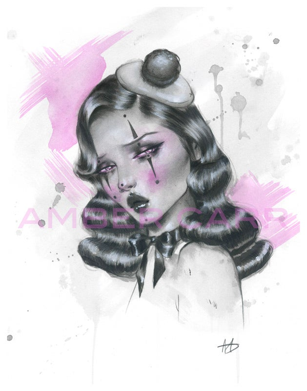"Image of Sad Mime 11"" x 14"" print"