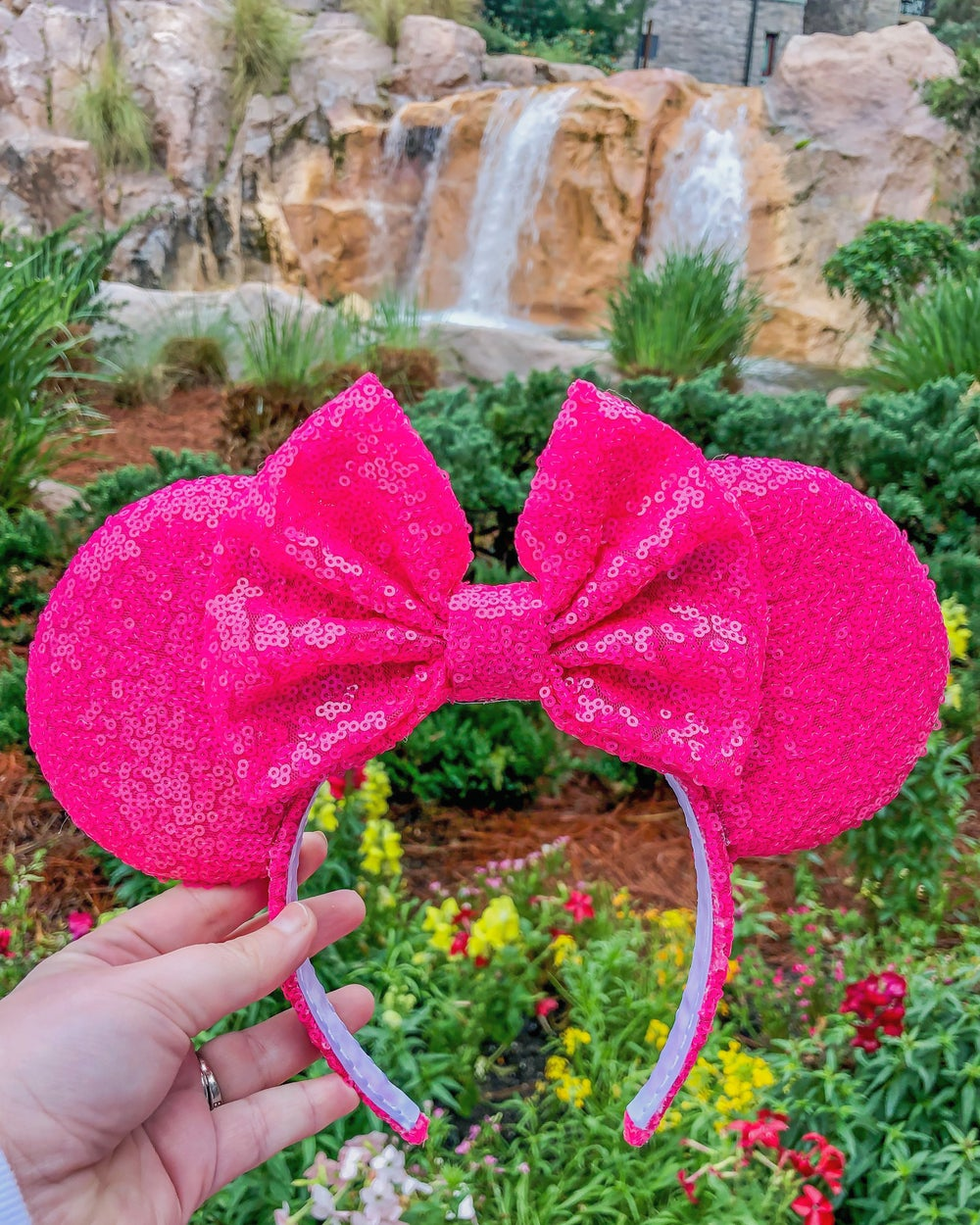 Image of Hot Pink Sequin Ears