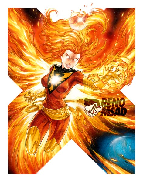 Image of DARK PHOENIX 11x14