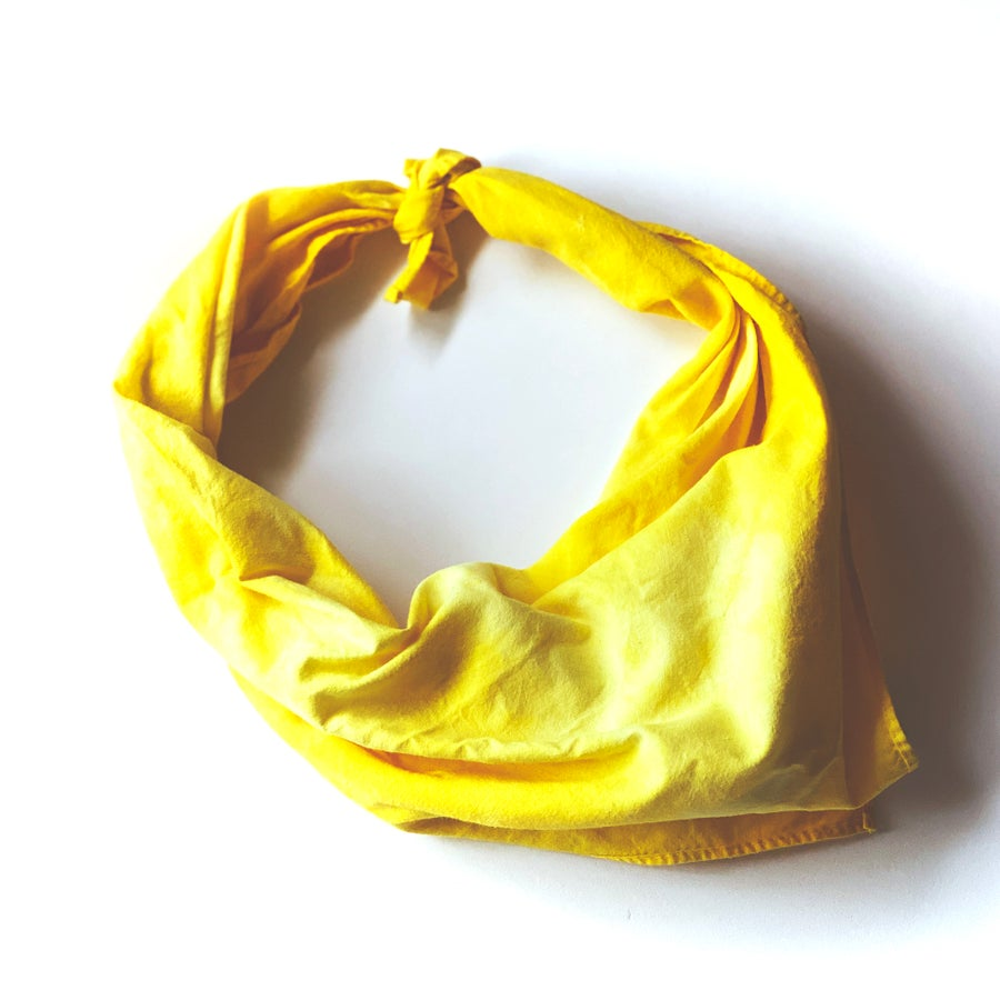 Image of Hand Dyed Yellow Bandana