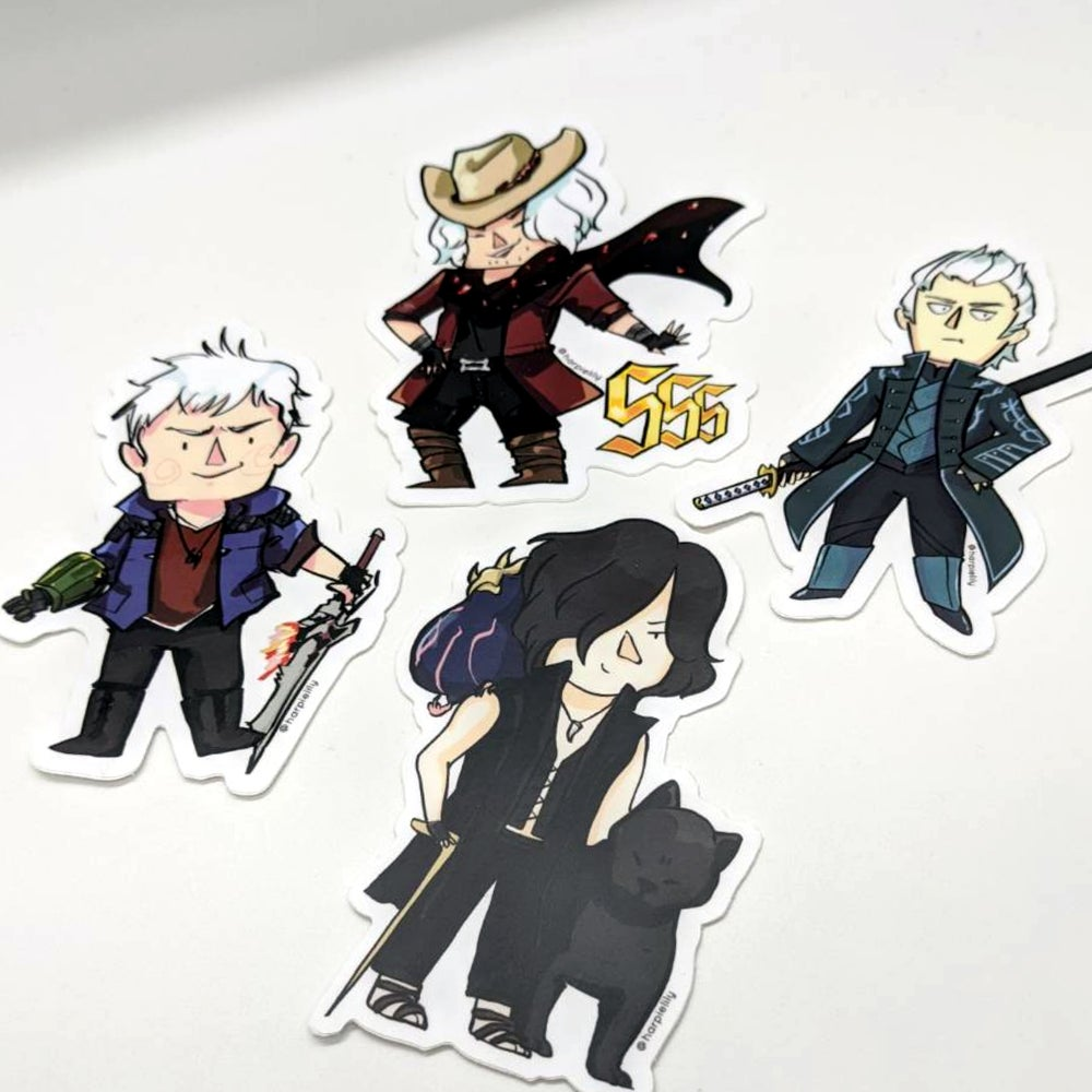 Image of DMC5 vinyl stickers