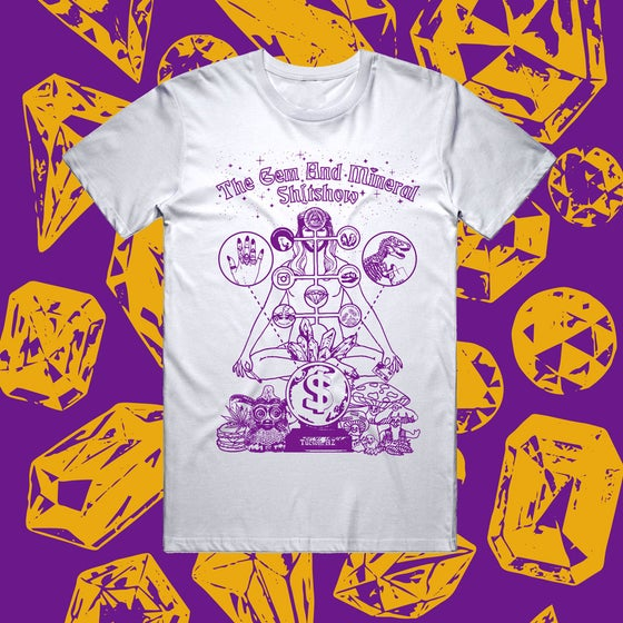 "Image of ""GEM & MINERAL SHITSHOW"" - White TEE"